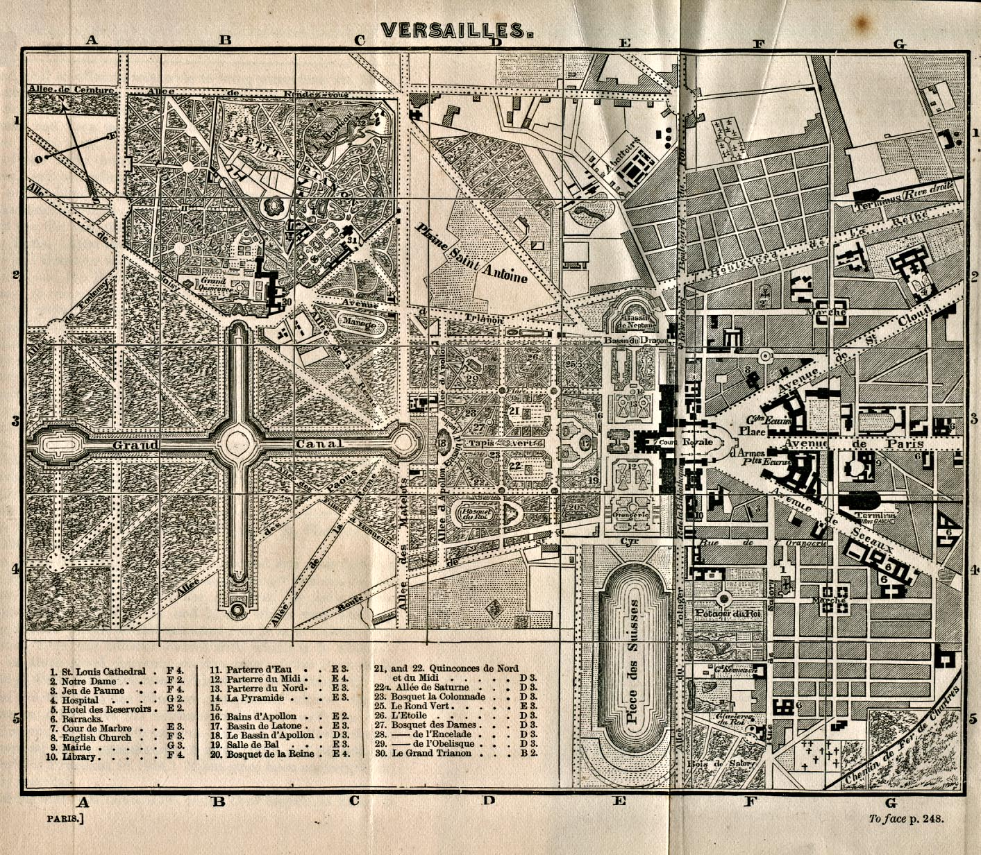 Versailles Map Of France.Maps Of Versailles Map France 1866 Mapa Owje Com