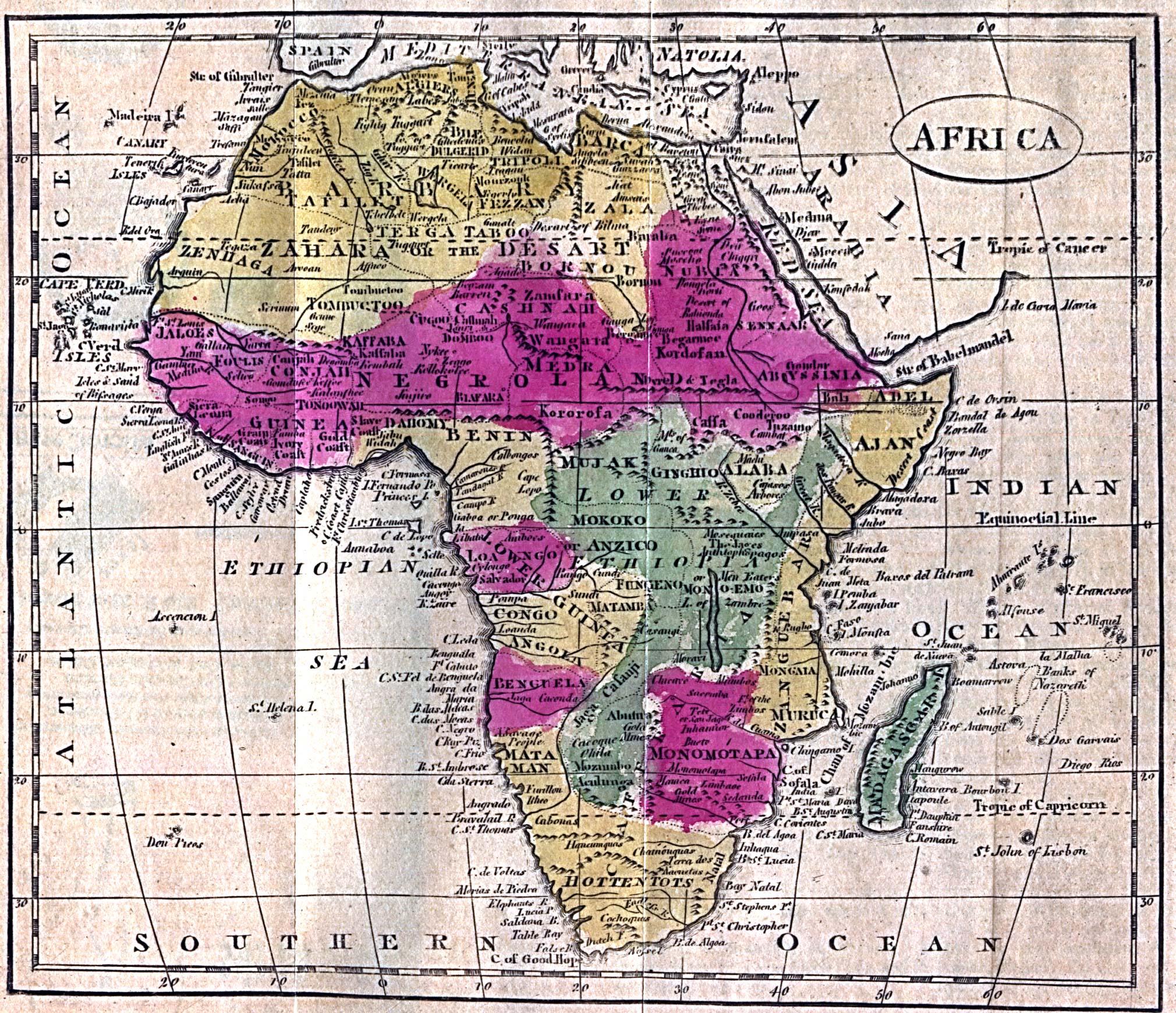 Mapa de África 1808