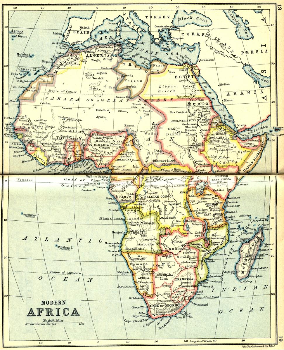 Africa map 1913