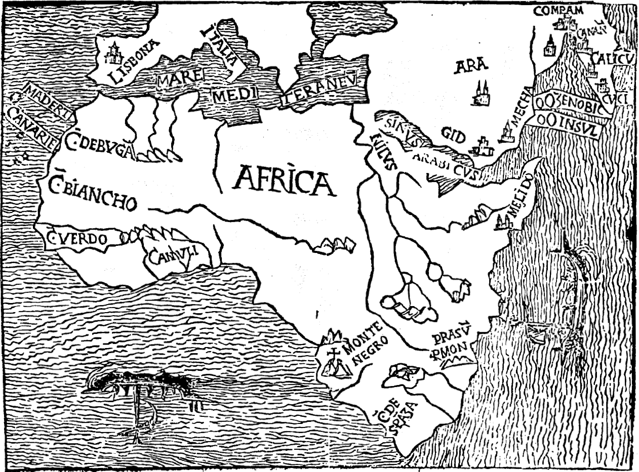 Map of Africa drawn in 1508