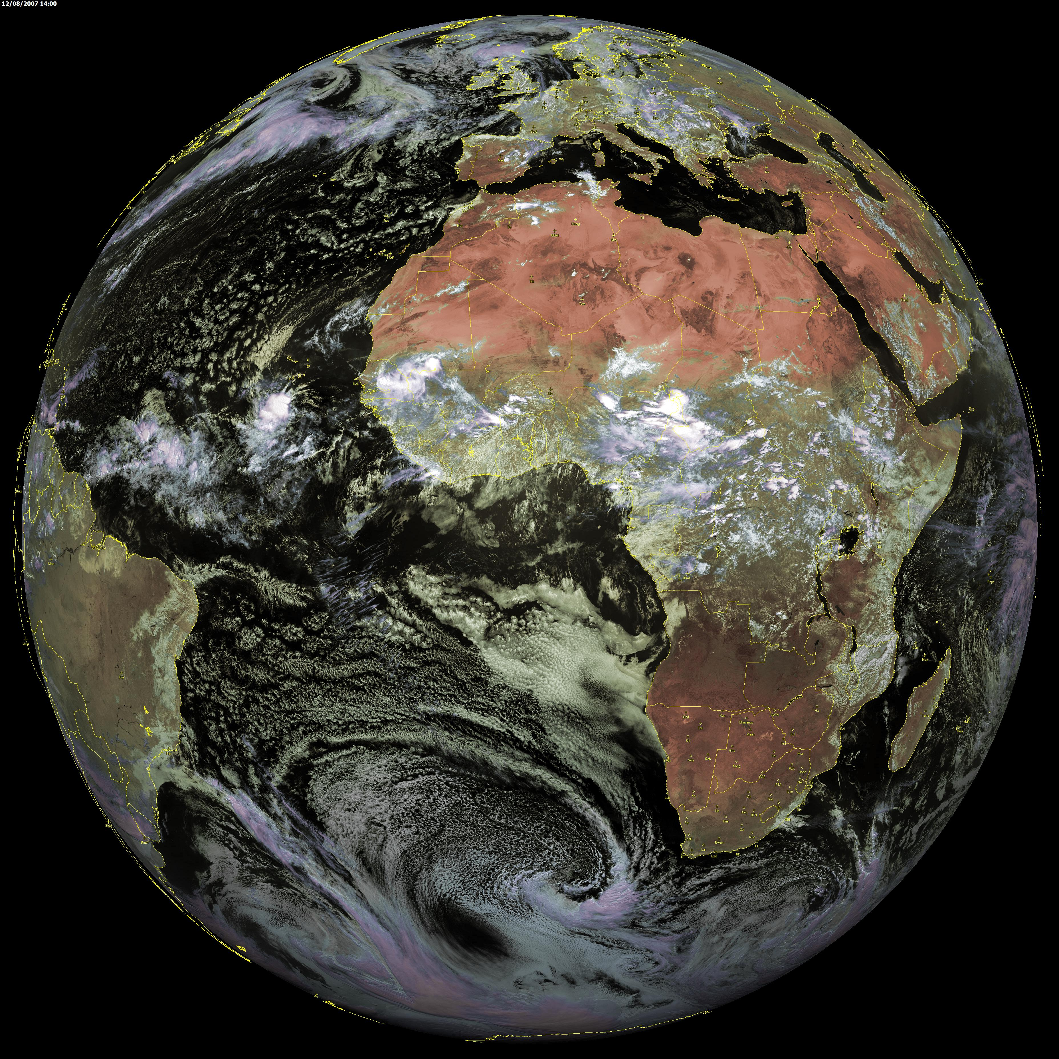 Mapa de África (satelital)