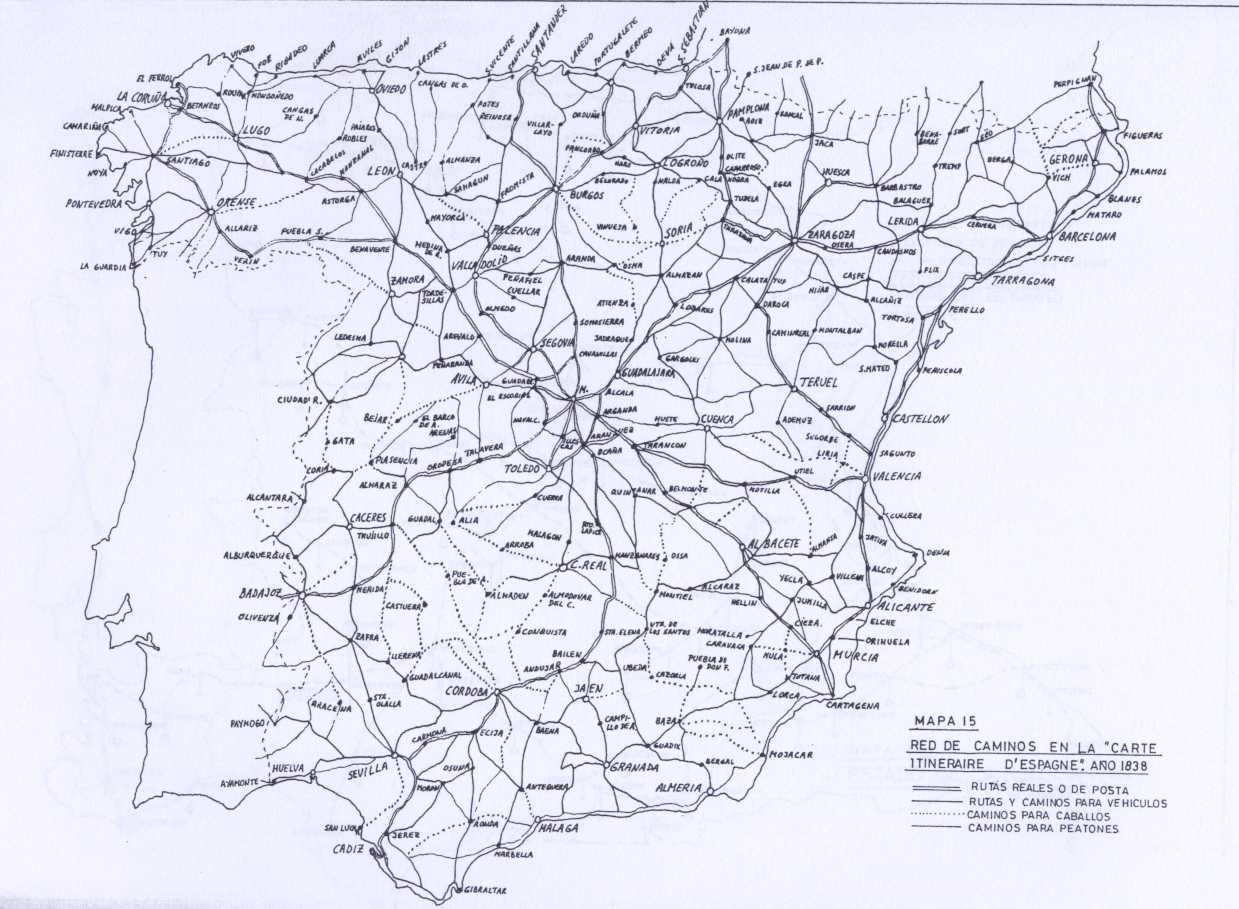 Spain road map 1830
