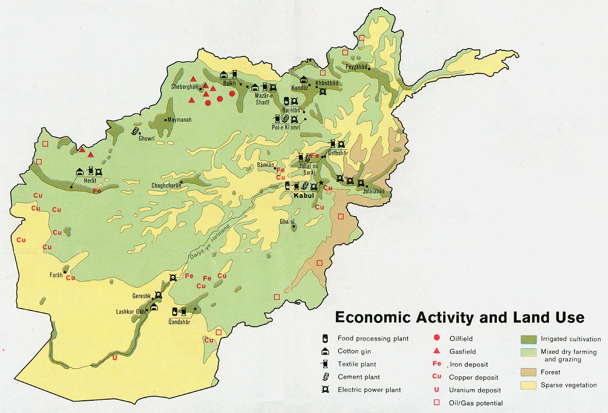 Afghanistan Economic Activity Map