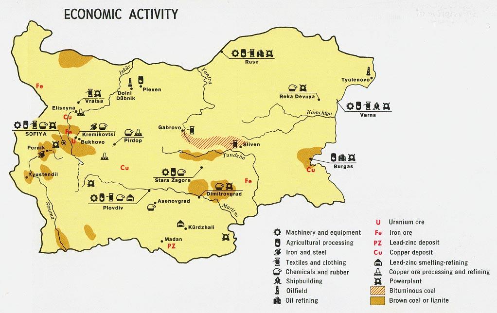 Bulgaria Economic Activity Map