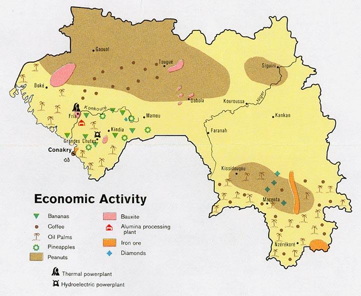 Mapa de la Actividad Económica de Guinea