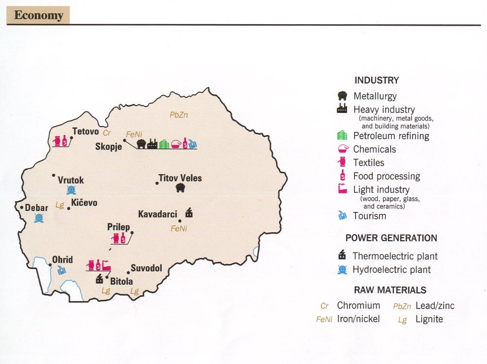 Mapa de la Actividad Económica de Macedonia