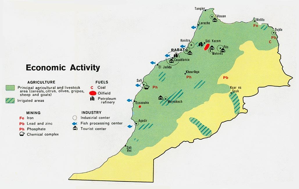 Mapa de la Actividad Económica de Marruecos