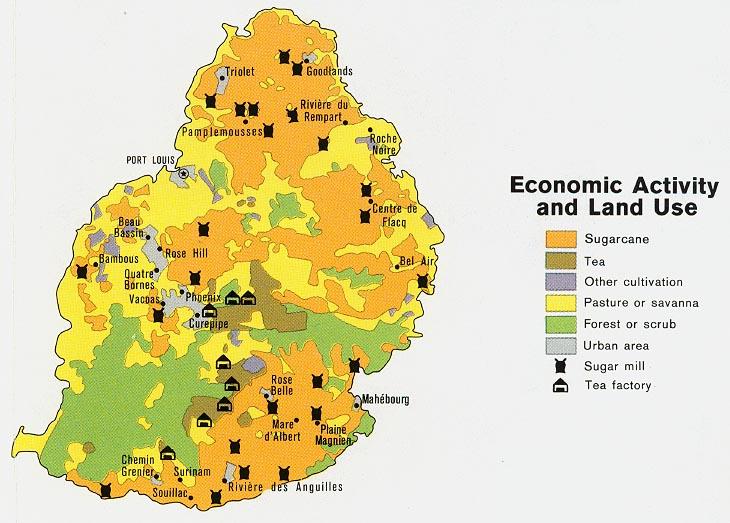 Mapa de la Actividad Económica de Mauricio
