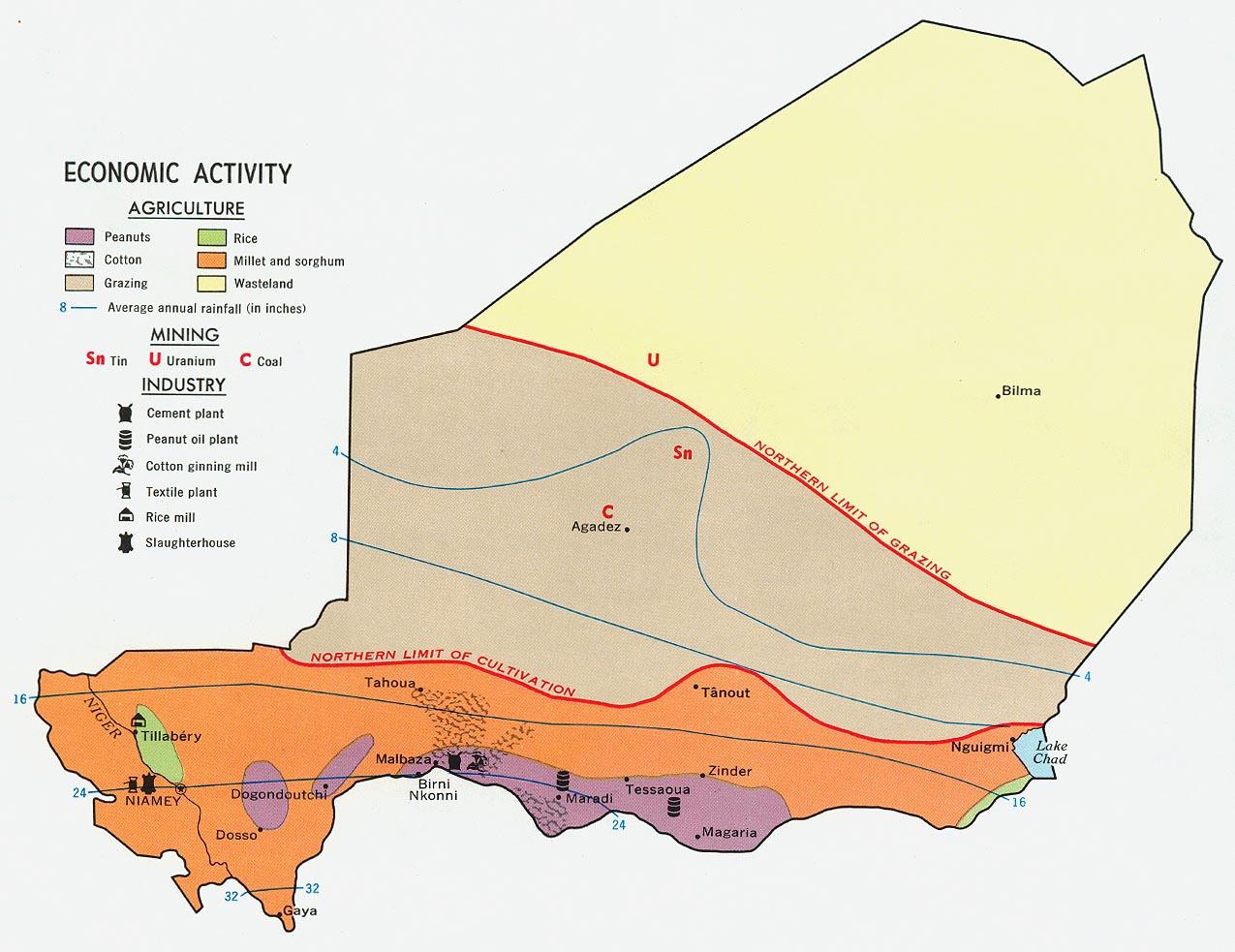 Mapa de la Actividad Económica de Níger