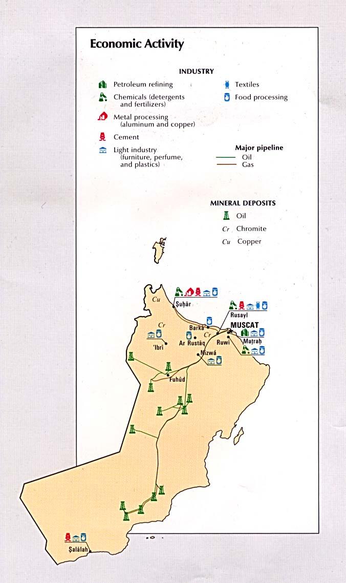 Mapa de la Actividad Económica de Omán