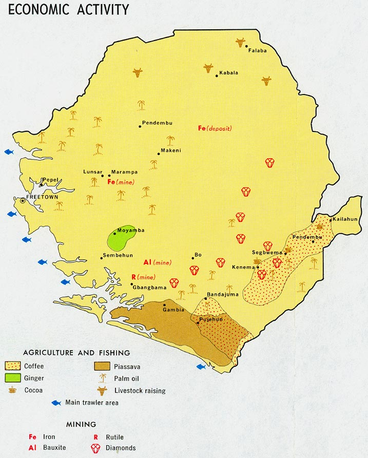 Sierra Leone Economic Activity Map