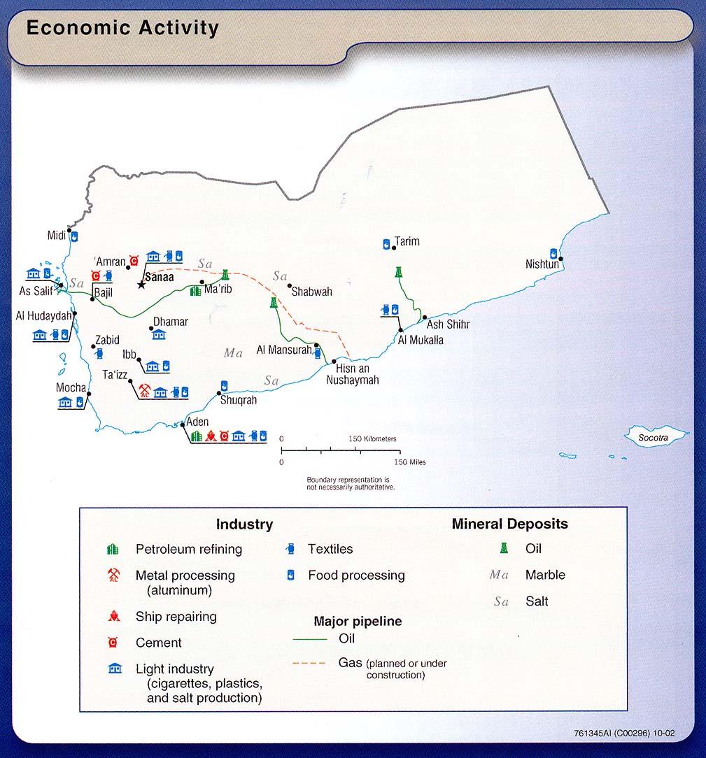 Yemen Economic Activity Map
