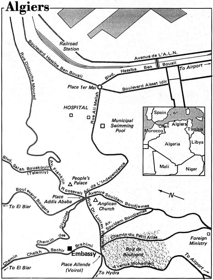 Algiers City Map, Algeria
