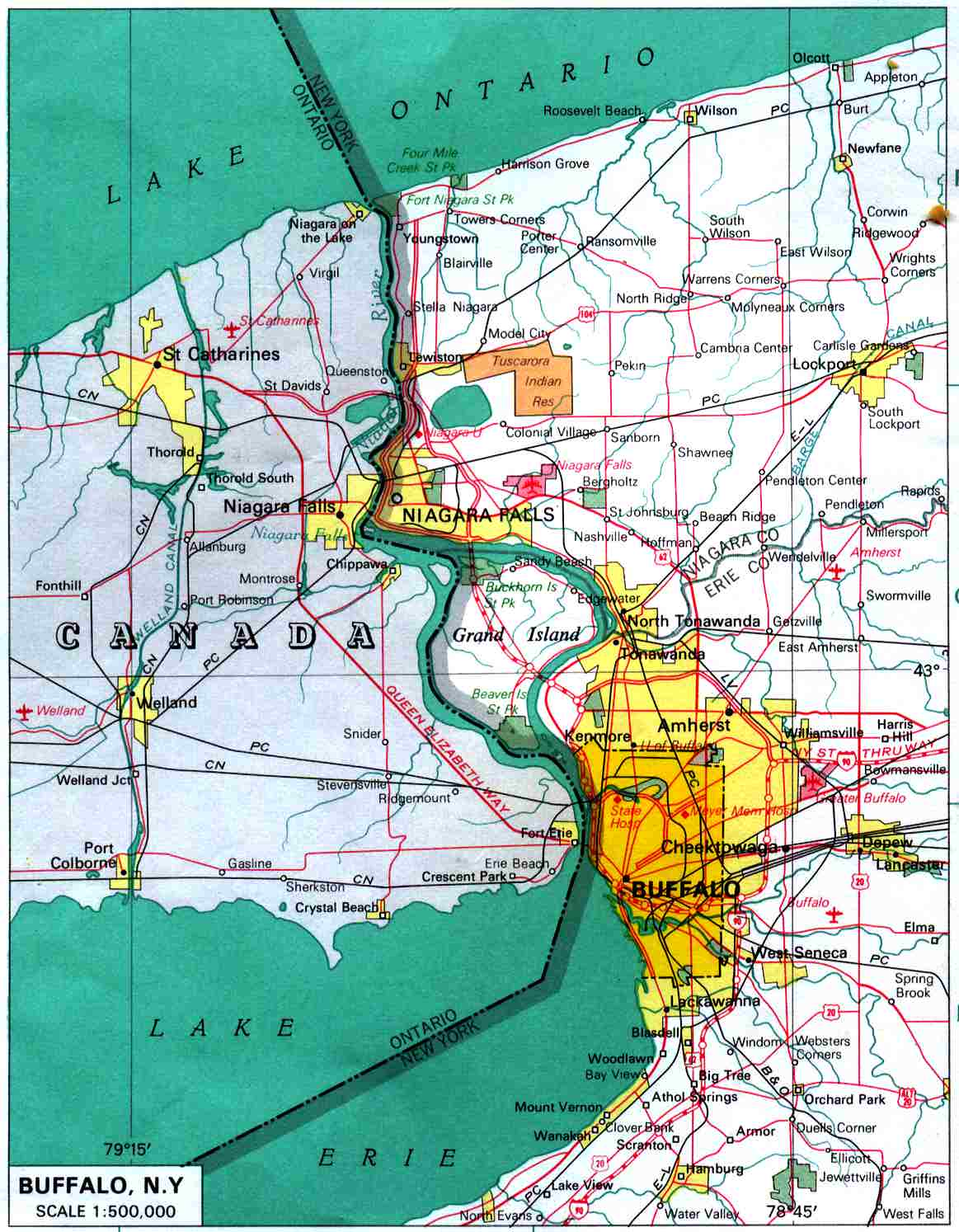Picture of: Maps Of Buffalo City Map United States Mapa Owje Com