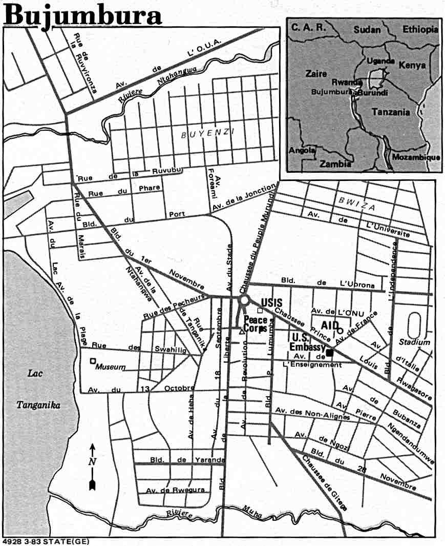 Mapa de la Ciudad de Buyumbura, Burundi