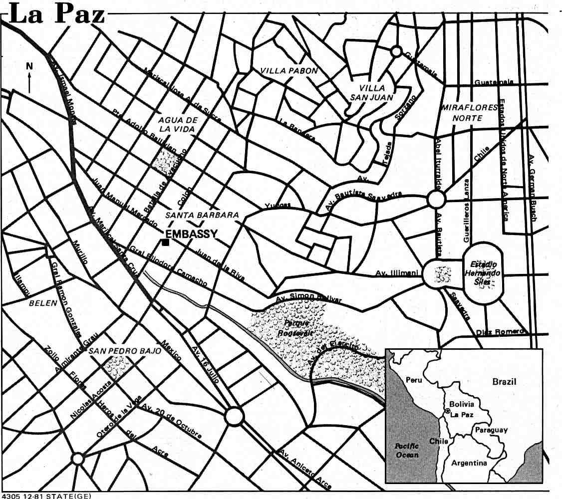 Mapa de la Ciudad de La Paz, Bolivia