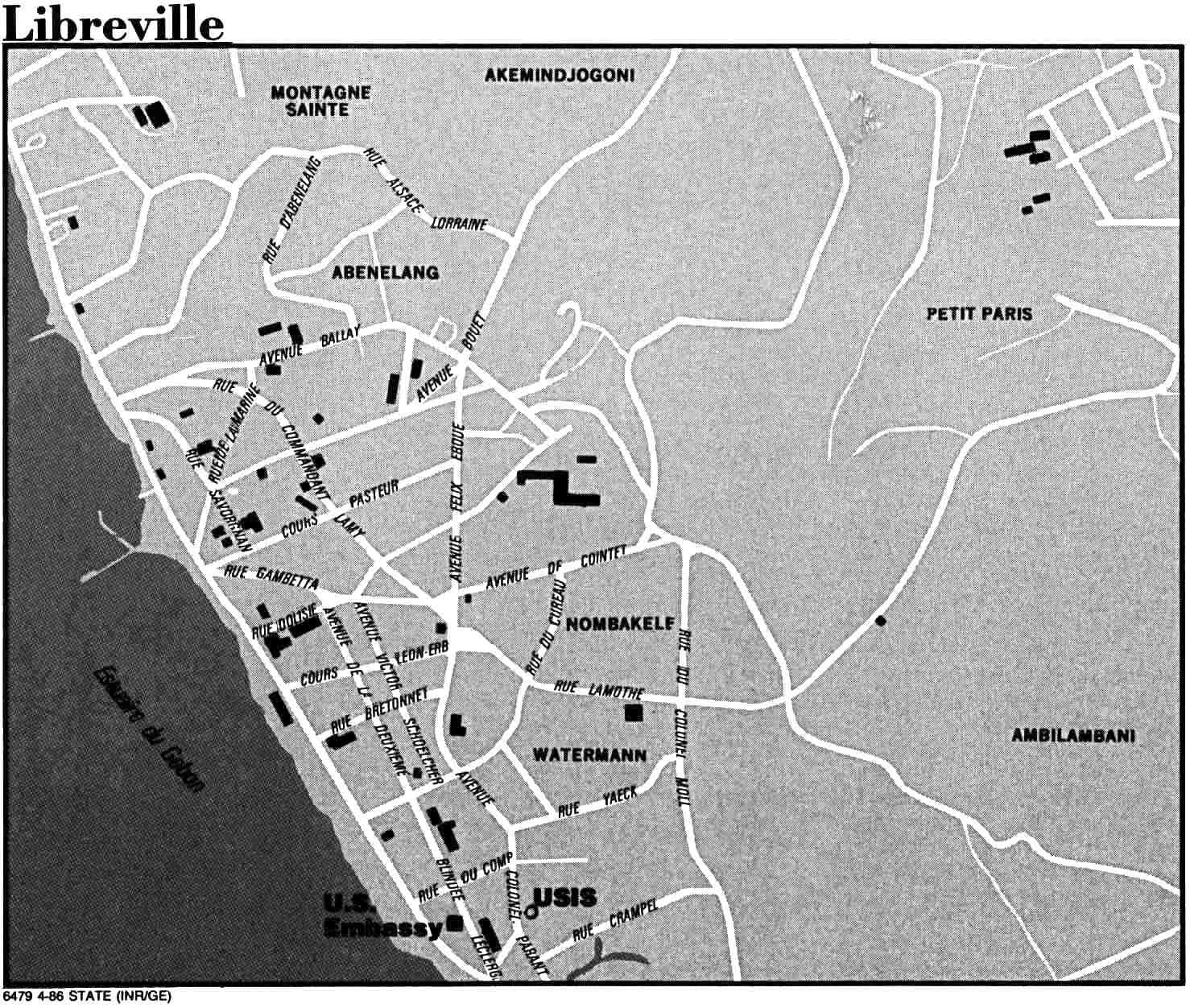Mapa de la Ciudad de Libreville, Gabón