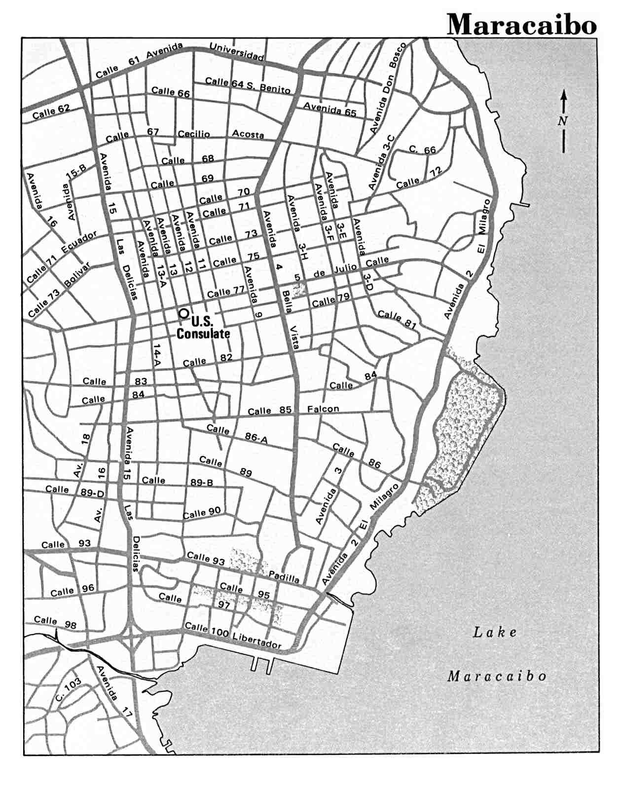 Mapa de la Ciudad de Maracaibo, Venezuela