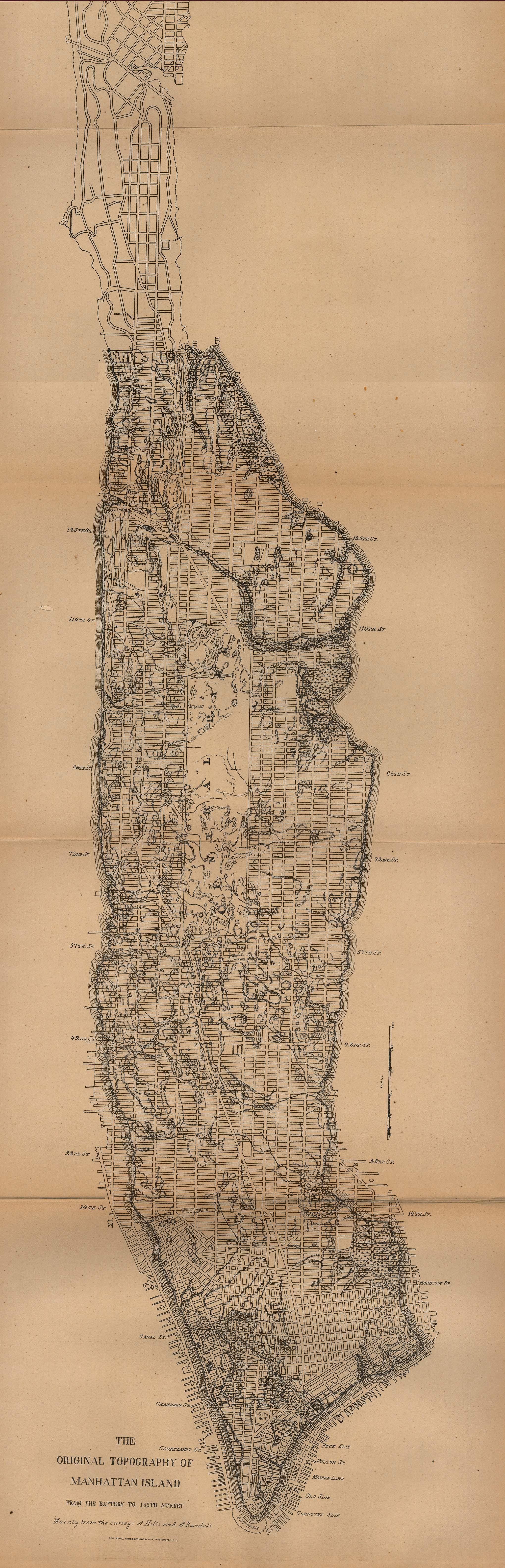 Mapa de la Ciudad de Nueva York, Nueva York, Estados Unidos 1880