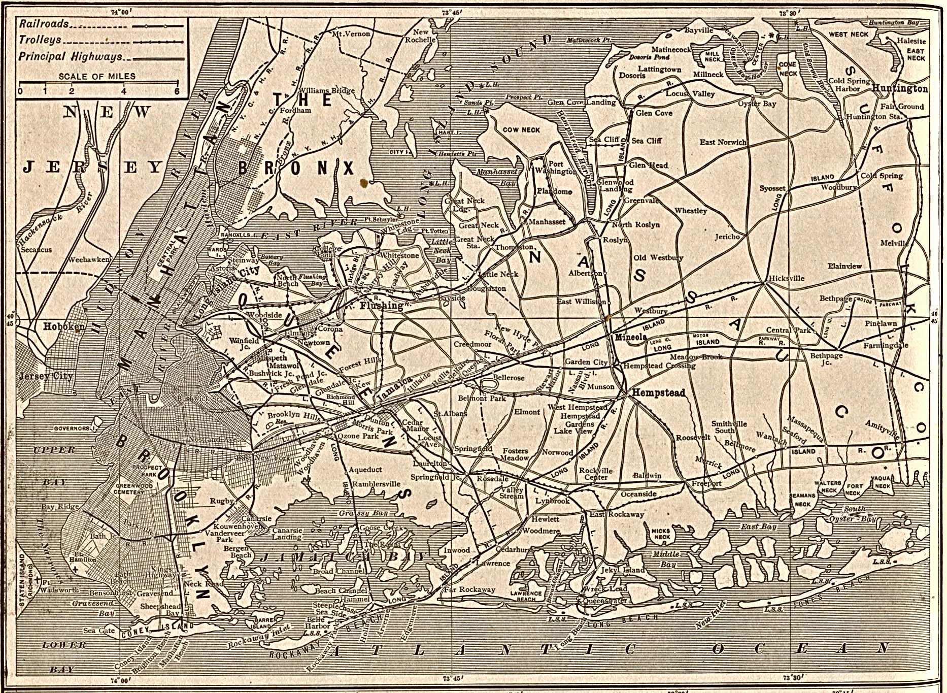 Mapa de la Ciudad de Nueva York, Nueva York, Estados Unidos 1917