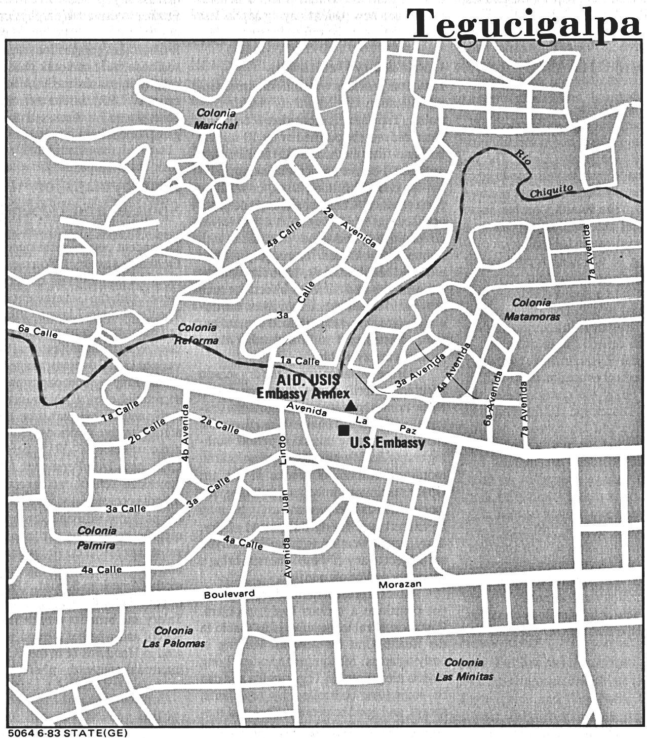 Tegucigalpa City Map