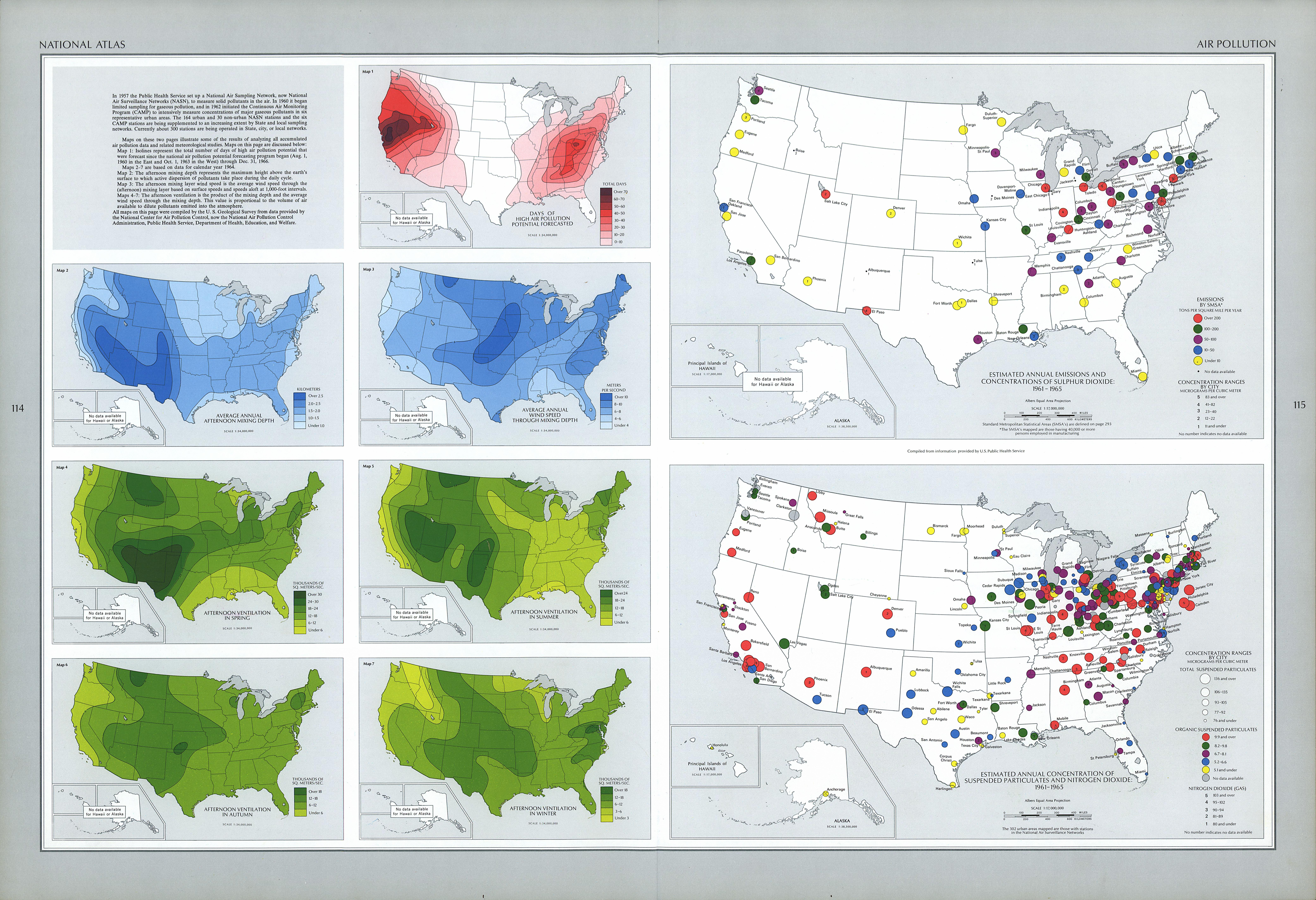 United States Air Pollution Map