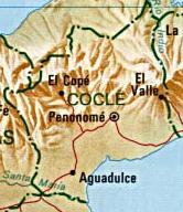Mapa de la Provincia de Coclé, República de Panamá