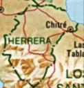 Mapa de la Provincia de Herrera, República de Panamá
