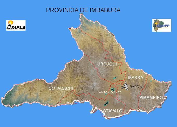 Mapa de la Provincia de Imbabura, Ecuador
