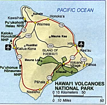 Maps of Area Map of Hawaii Volcanoes National Park, Hawaii ...