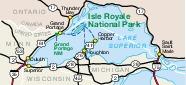 Isle Royale National Park Area Map, Michigan, United States