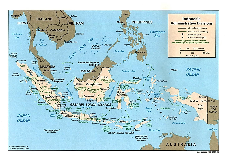 Indonesia Divisions Map