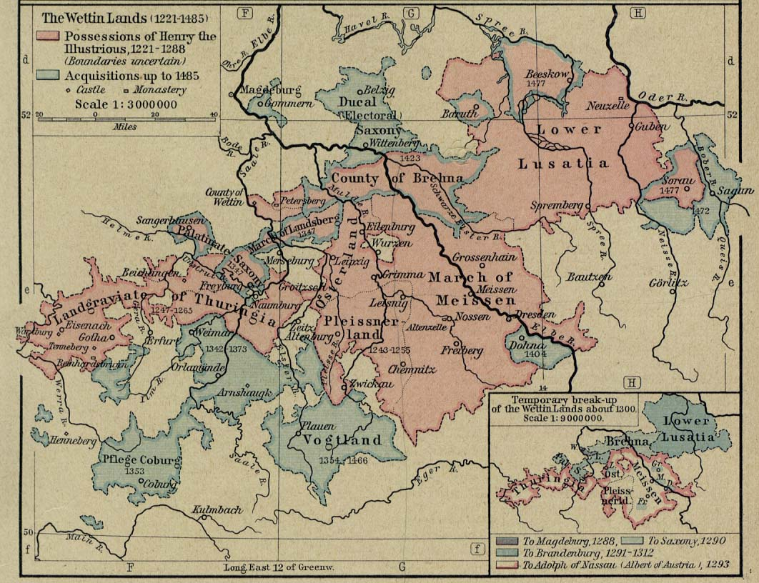 The Wettin Lands Map 1221-1485