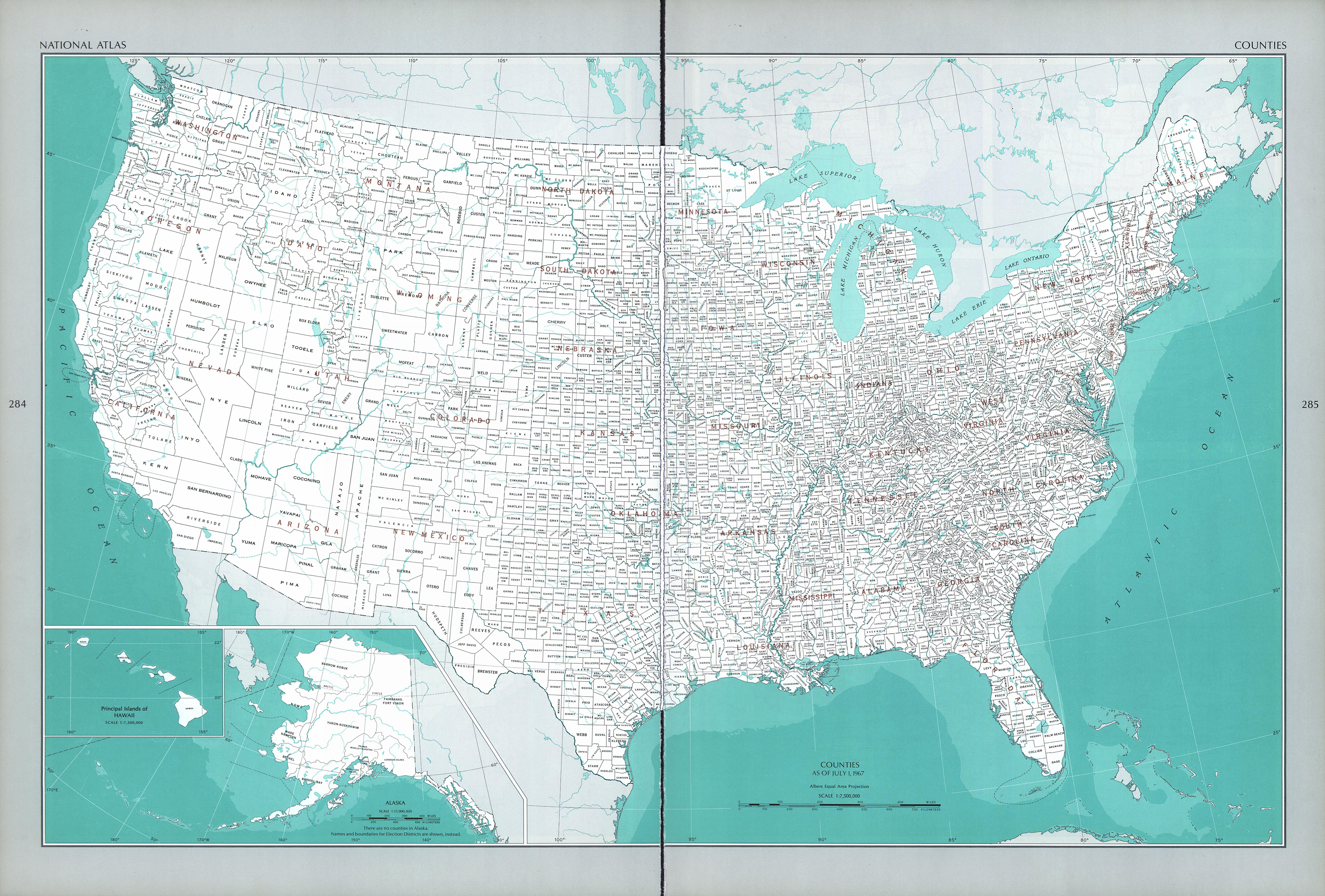 Mapa de los Condados, Estados Unidos