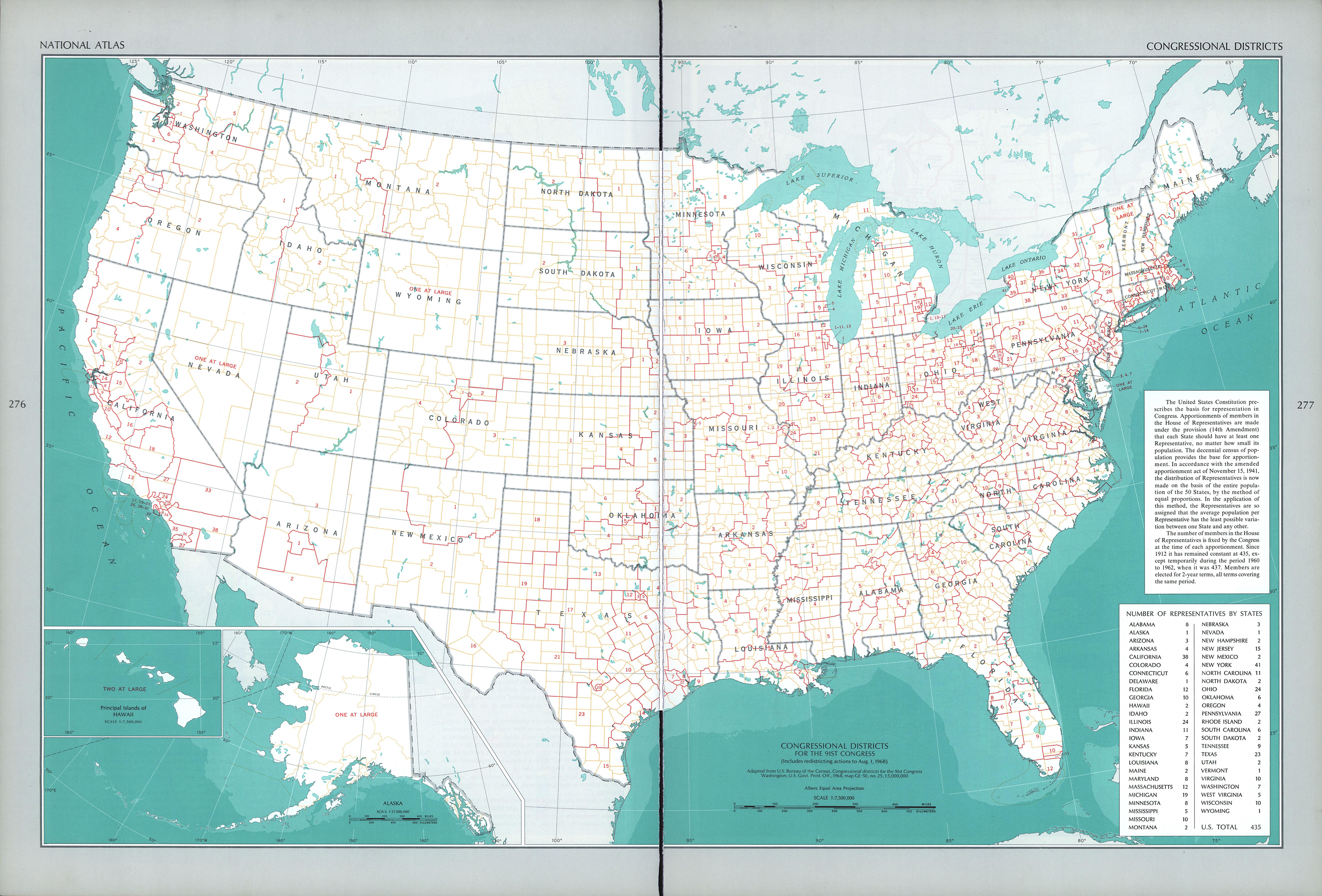 Mapa de los Distritos Congresuales, Estados Unidos
