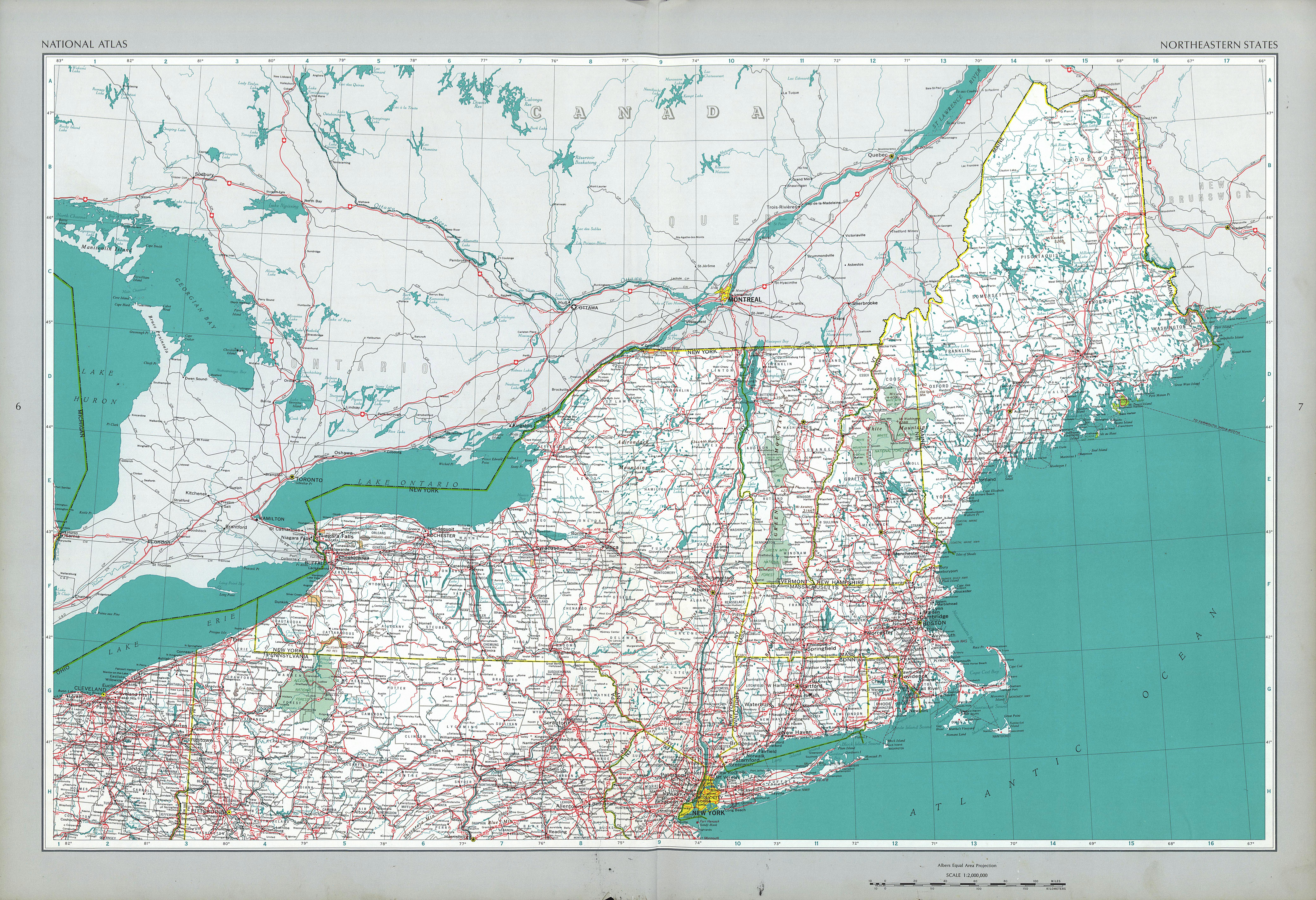 Maps of Northeastern States Map, United States - mapa.owje.com