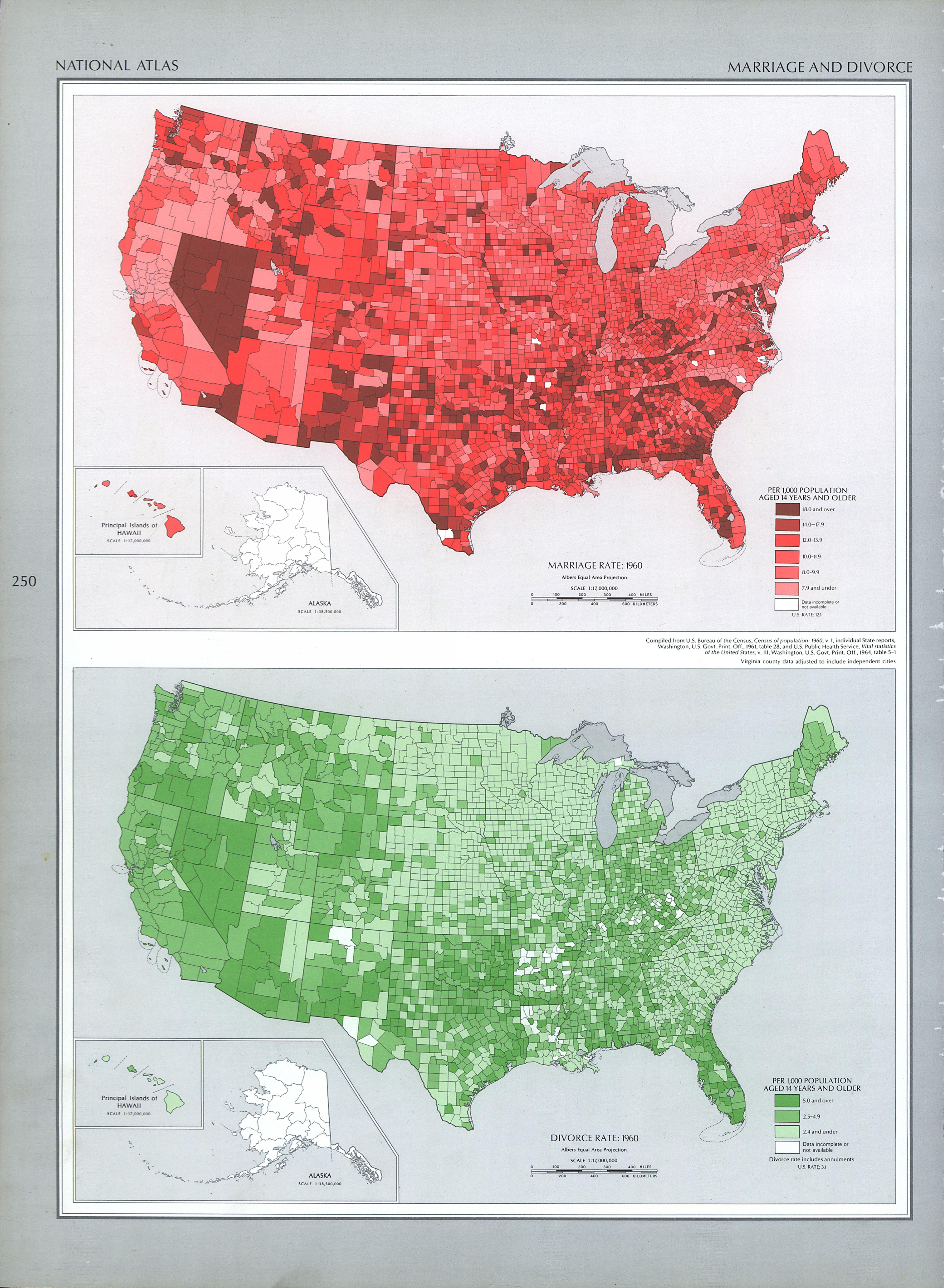 United States Marriage and Divorce Map