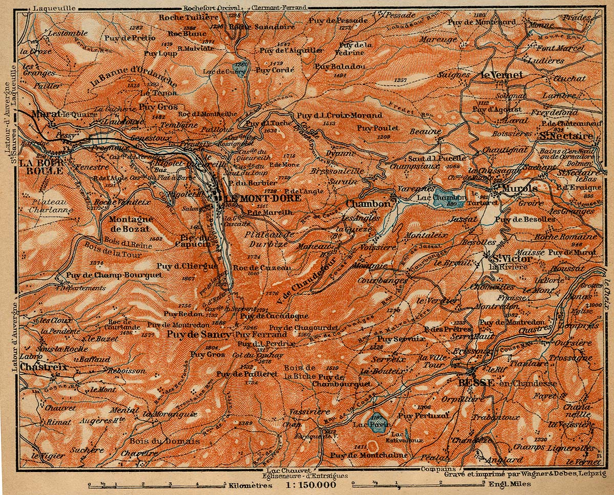 The Monts Dore Map, France 1914