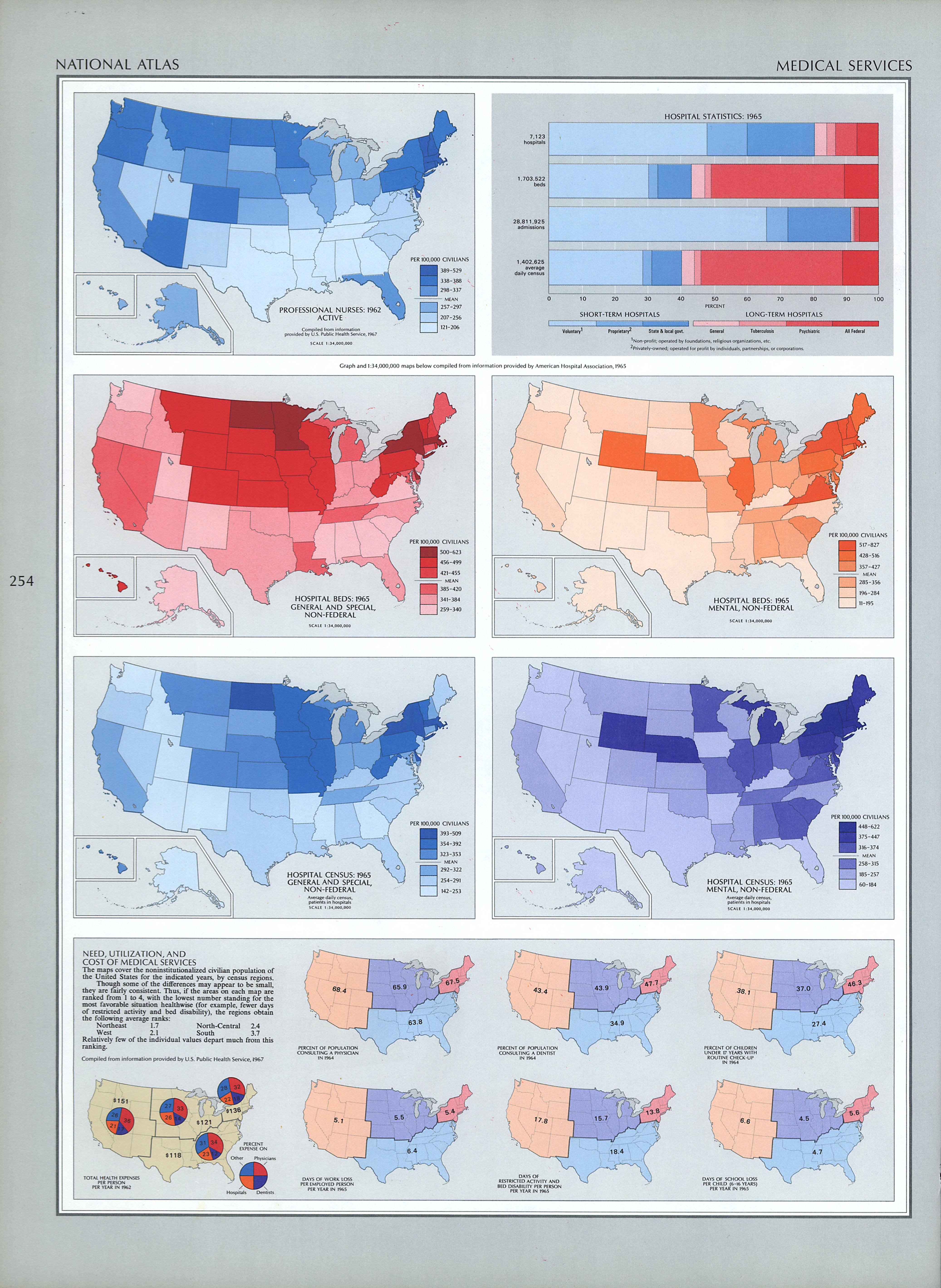 United States Medical Service Map