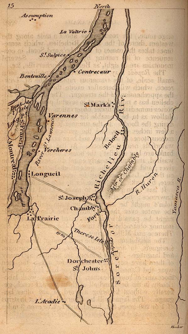 Mapa del Bajo Canadá 1830