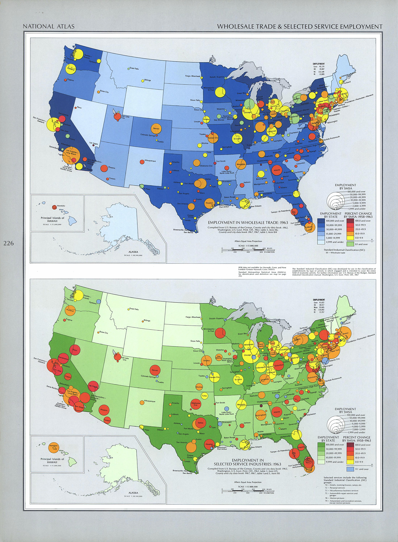 Mapa del Comercio al por Mayor en Estados Unidos