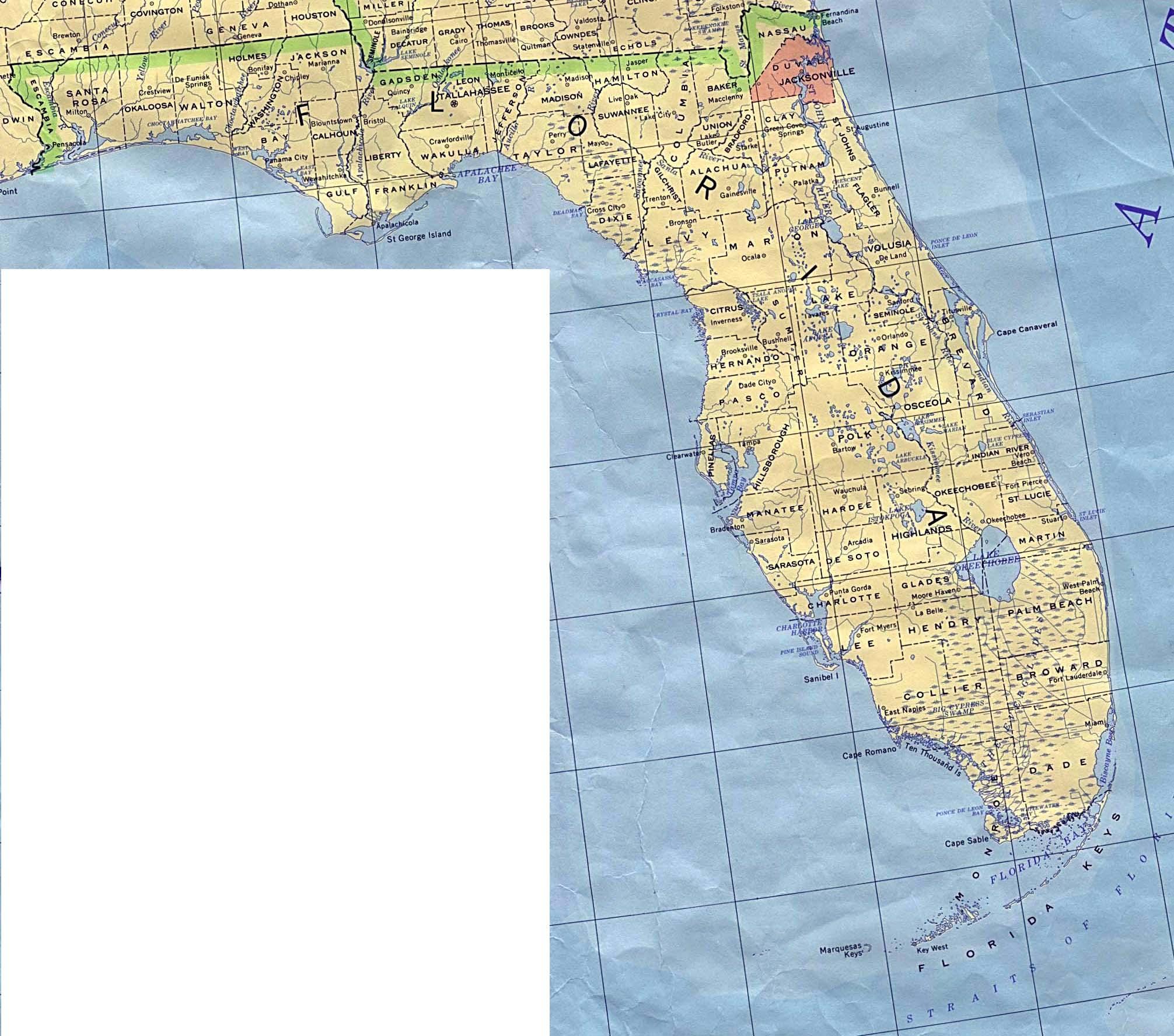 Mapa Del Estado De Florida Estados Unidos Mapa Owje Com