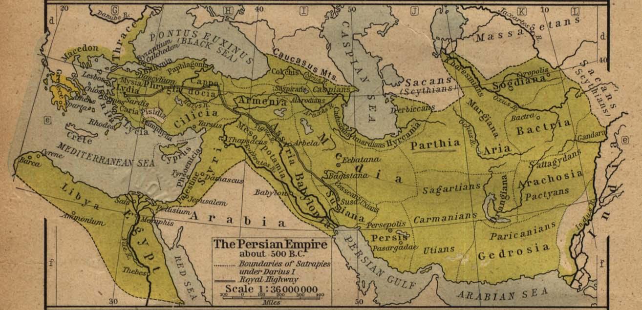 Mapa del Imperio Persa Circa 500 adC