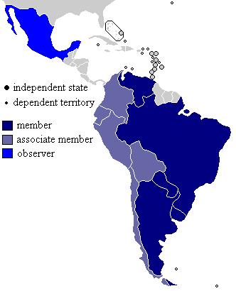 Mapa del Mercosur 2007