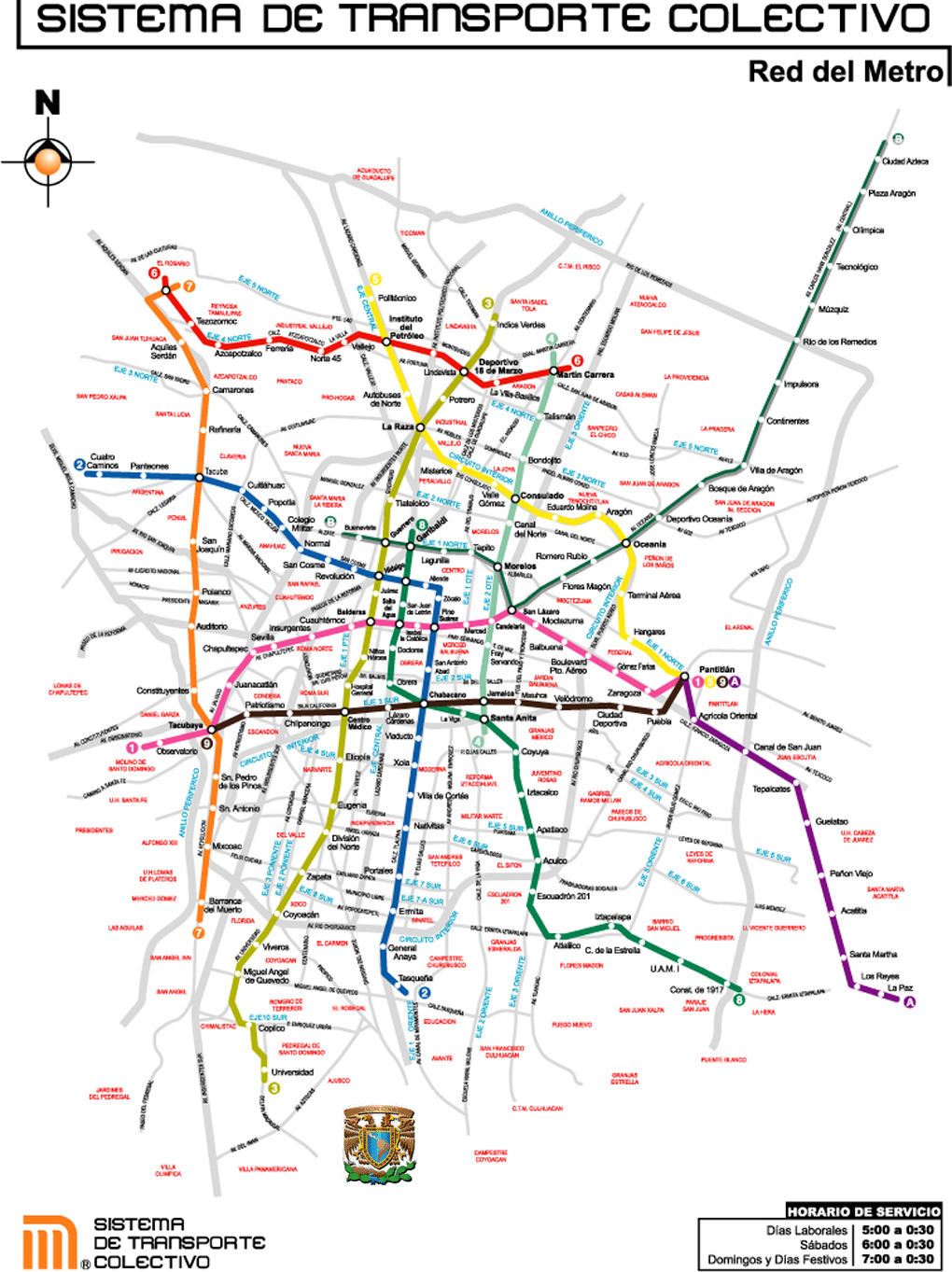 Mexico City Subway's Map