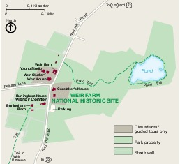 Weir Farm National Historic Site Park Map, Connecticut, United States