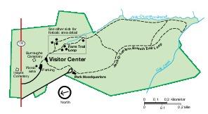 Park Map of Booker T. Washington National Monument, Virginia, United States
