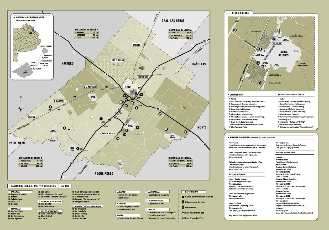 Lobos City Map, Buenos Aires Prov., Argentina