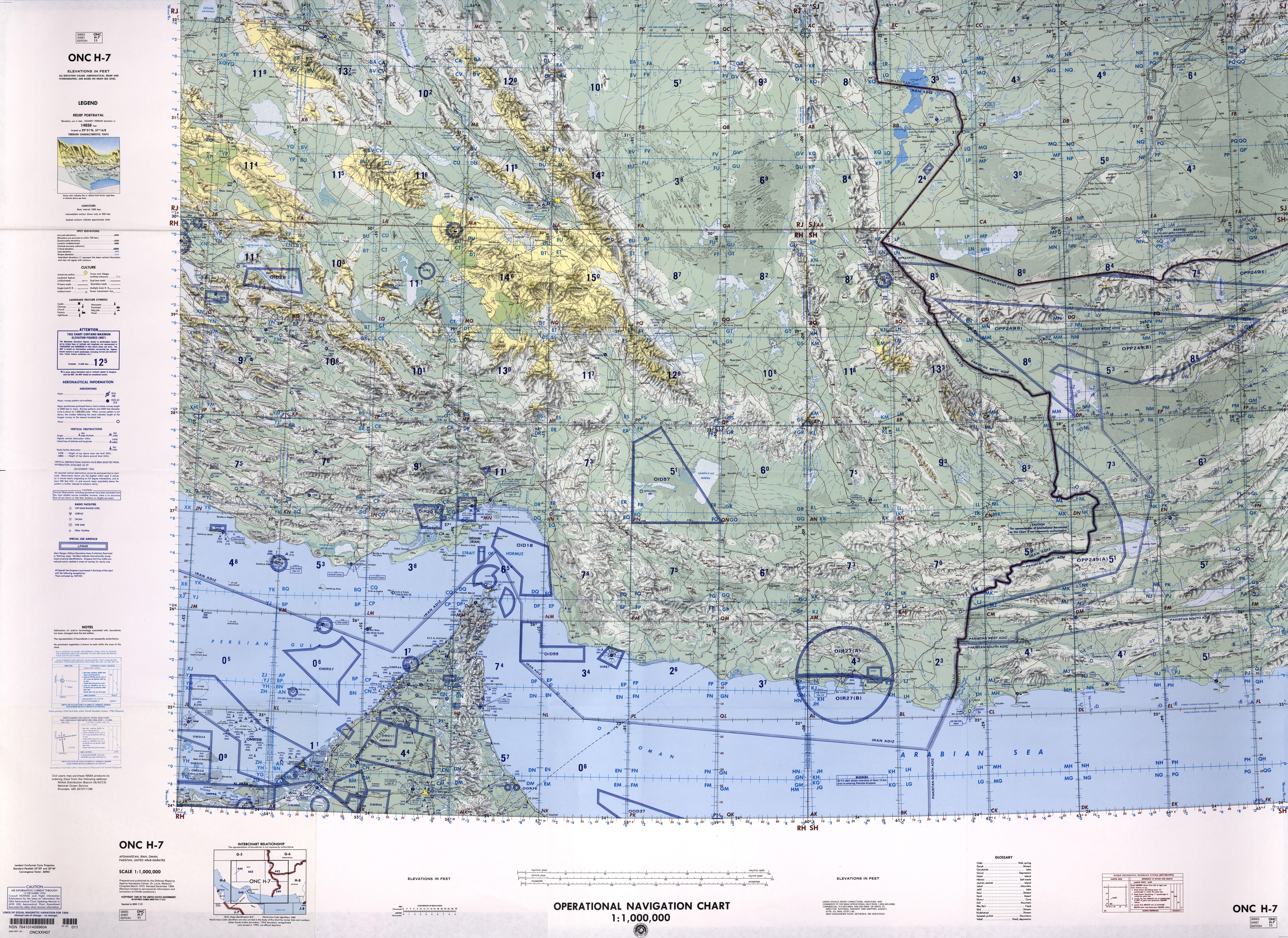 Mapa del Sudeste de Irán
