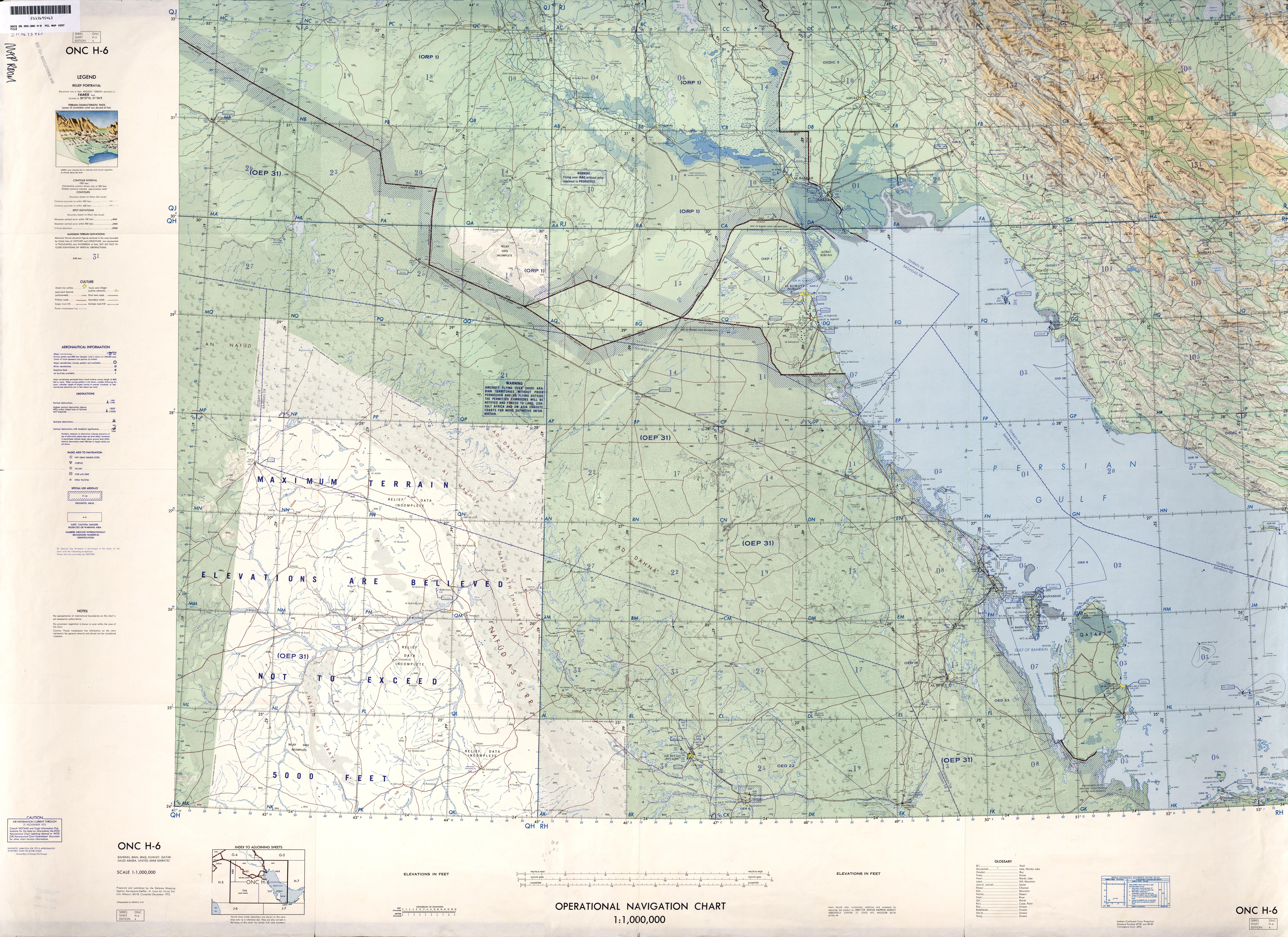 Mapa del Suroeste de Irán